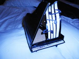Creativity example - duct tape grand piano